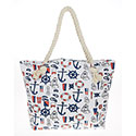 Nautical Tote Bag White