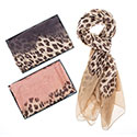 Leopard Print Boxed Scarf