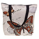 Tapestry Buterfly Brown Tote Bag
