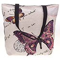 Tapestry Butterfly Purple Tote Bag