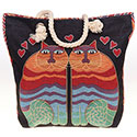 Tapestry Cats Tote Bag