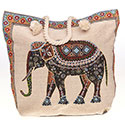 Tapestry Elephant Tote Bag