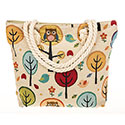 Tapestry Owl in Tree Tote Bag