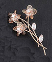 Brooch Filigree Flower Bouquet Brooch Gold