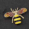 Brooch Hand Painted Bee Rose Gold