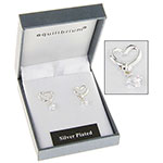 Heart Crystal Drop Earrings