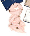 Honey Bee Boxed Scarf Pink