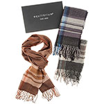Men Check Stripes Scarf