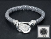 Bracelet Ornate Buckle Grey