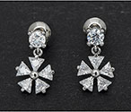 Earrings Crystal Flower
