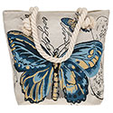 Tapestry Pretty Butterfly Blue Tote Bag