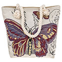 Tapestry Pretty Butterfly Purple Tote Bag