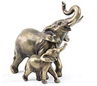 Art Bronze Elephant Pair Smaller