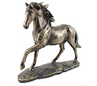 Art Bronze Horse Running
