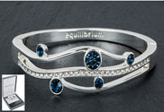 Bangle Gentle Curves Blue