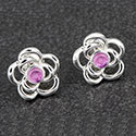 Earring Glitter Rose Earrings