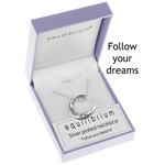 Necklace Silver Follow Your Dreams Ring Necklace