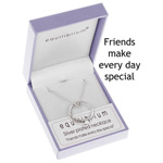 Necklace Silver Friends Ring Necklace