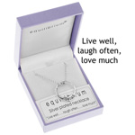 Necklace Silver Live Well Ring Necklace