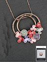 Necklace Warm Tones Flowers Round Necklace