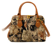 Cat Tapestry Convertible Bag