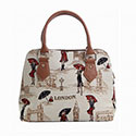 Miss London Tapestry Convertible  Bag