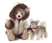 Steiff Eskimo Hudson Teddy Bear with Husky