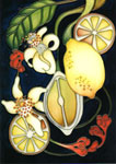Moorcroft Cards Lemons and Blossom