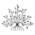 Mirrored Leaf Tree Medium Wall Art