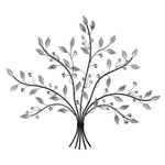 Mirrored Leaf Tree Large Wall Art