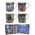 Boxed Claude Monet 4 Mug Gift Set