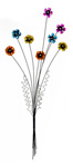 Painted Steel Flower Spray Large Wall Art