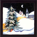 Moorcroft Christmas Card New Moon At Christmas