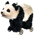 Steiff Panda On Wheels