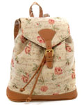 Pink Rose Tapestry Backpack
