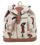 Miss London Tapestry Backpack