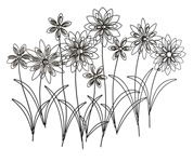 Silver Petal Bouquet Large Wall Art