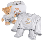 Steiff Sleep Well Bear Grey Gift Set