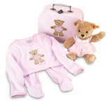 Steiff Sleep Well Bear Pink Gift Set
