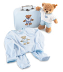 Steiff Sleep Well Bear Blue Gift Set