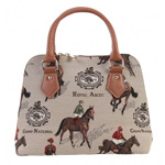 Racing Tapestry Convertible Handbag