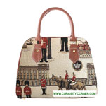 Royal Guard Tapestry Convertible Handbag