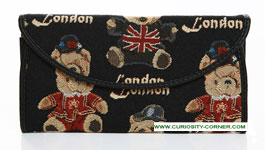London Bear Tapestry Envelope Purse