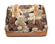 Bear Tapestry Shoulder Bag