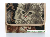 Cat Tapestry Tri Fold Purse