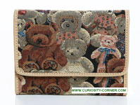 Bear Tapestry Tri Fold Purse