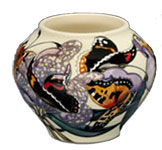 Moorcroft Butterfly Peacock Tortoiseshelll and Red Admiral