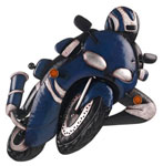Wall Art Blue Motorbike