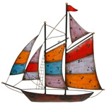 Sun Set Sail Boat Wall Art