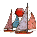 Dual Sunset Sail Boats Wall Art